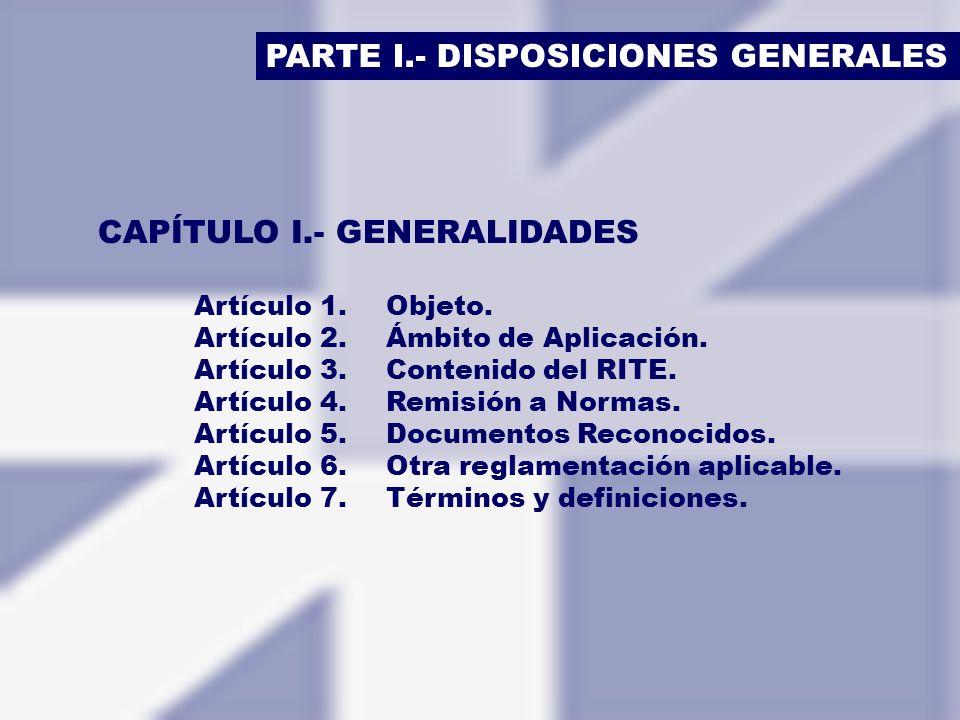 PARTE I.- DISPOSICIONES GENERALES