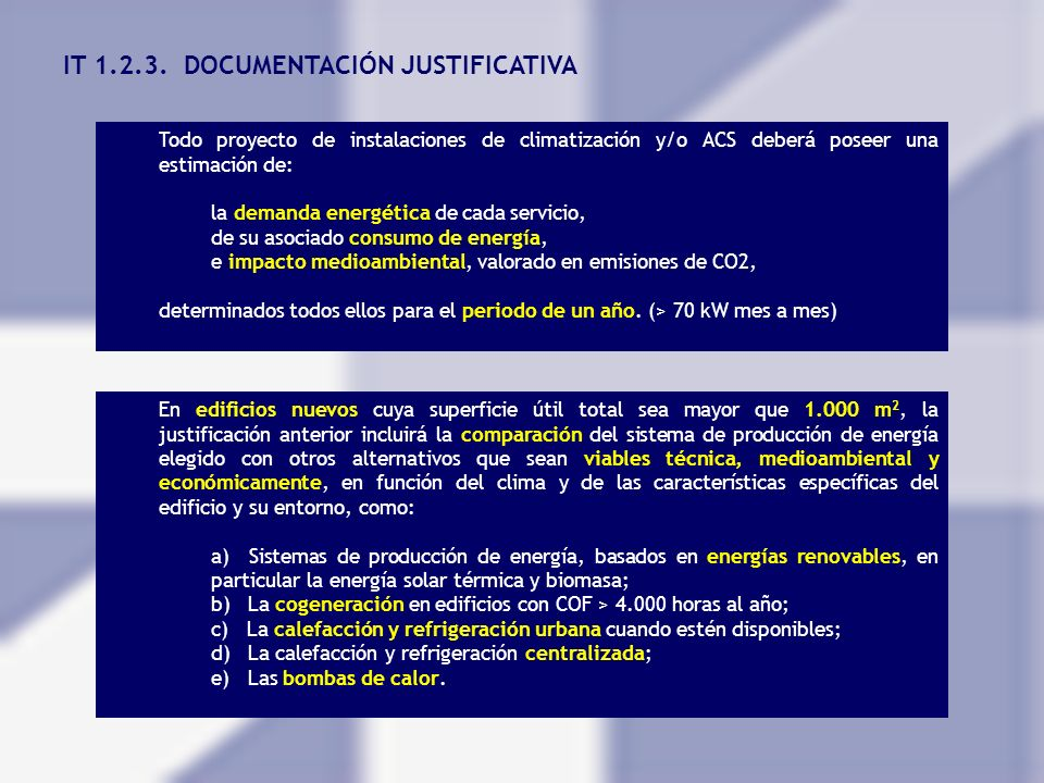 IT 1.2.3. DOCUMENTACIÓN JUSTIFICATIVA