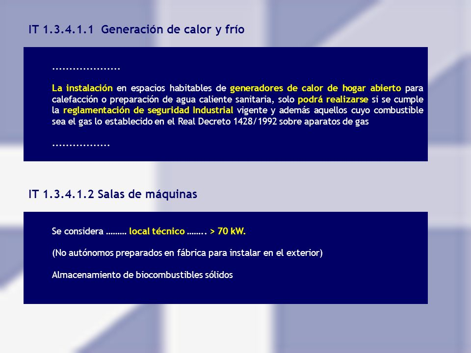 IT 1.3.4.1.1 Generación de calor y frío