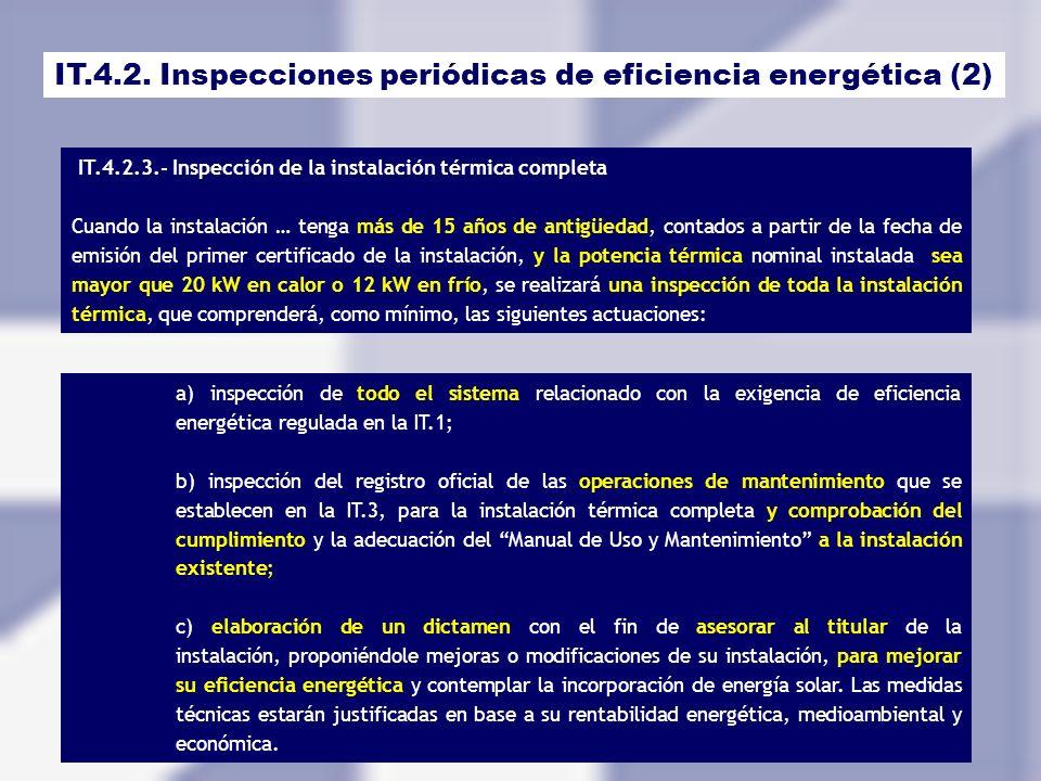 IT.4.2. Inspecciones periódicas de eficiencia energética (2)