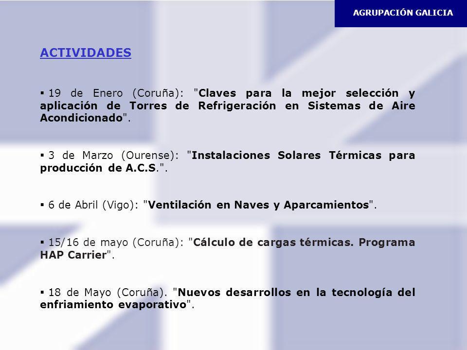 AGRUPACIÓN GALICIA ACTIVIDADES.