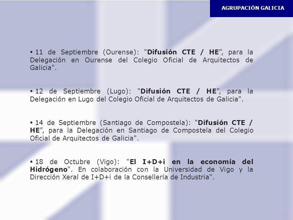 AGRUPACIÓN GALICIA11 de Septiembre (Ourense): Difusión CTE / HE , para la Delegación en Ourense del Colegio Oficial de Arquitectos de Galicia .
