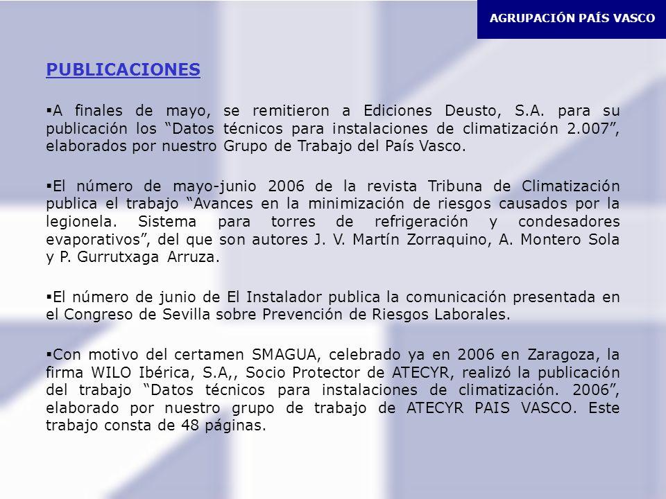 AGRUPACIÓN PAÍS VASCO PUBLICACIONES.