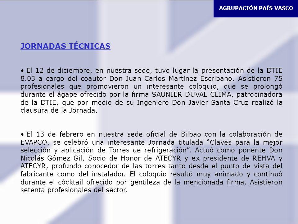 AGRUPACIÓN PAÍS VASCO JORNADAS TÉCNICAS.