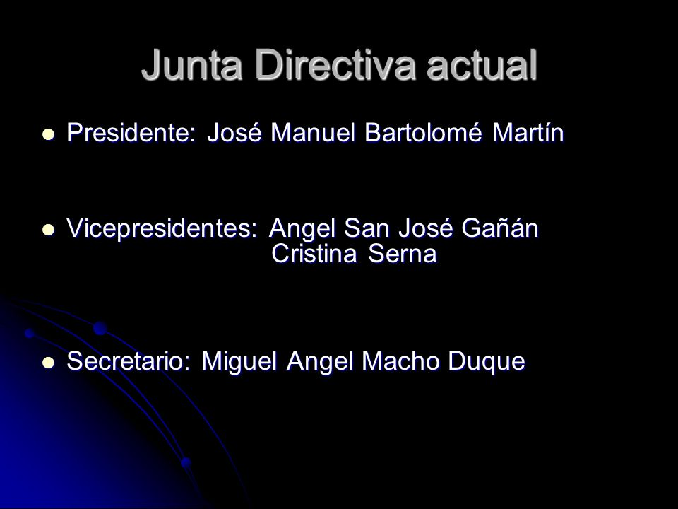 Junta Directiva actual