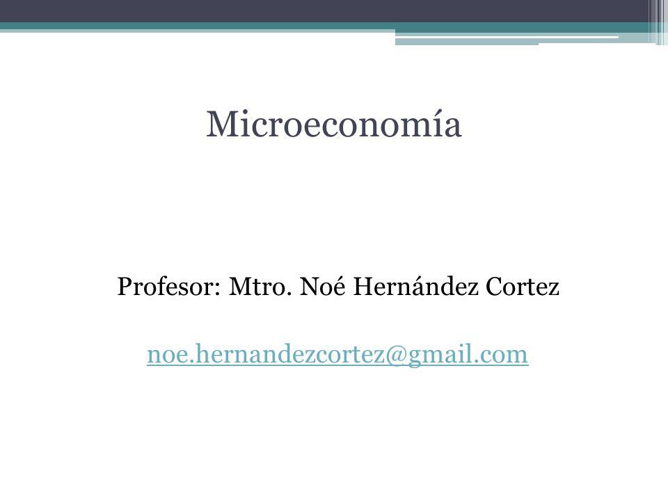 Profesor: Mtro. Noé Hernández Cortez noe.hernandezcortez@gmail.com