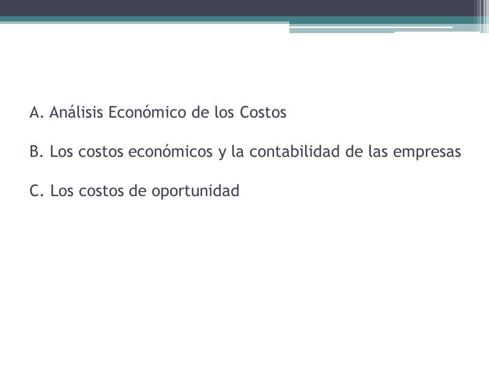 A. Análisis Económico de los Costos B
