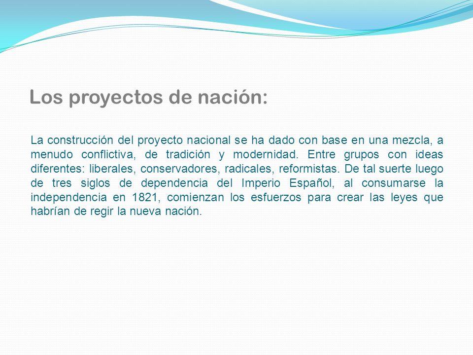Los proyectos de nación: