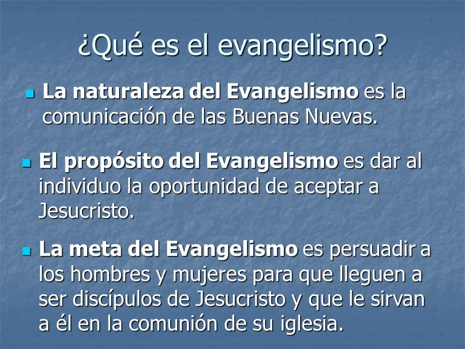 ¿Qué es el evangelismo La naturaleza del Evangelismo es la comunicación de las Buenas Nuevas.