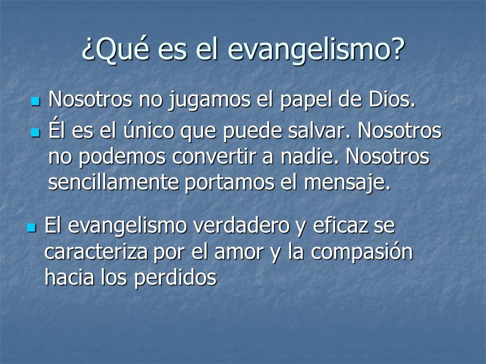 ¿Qué es el evangelismo Nosotros no jugamos el papel de Dios.