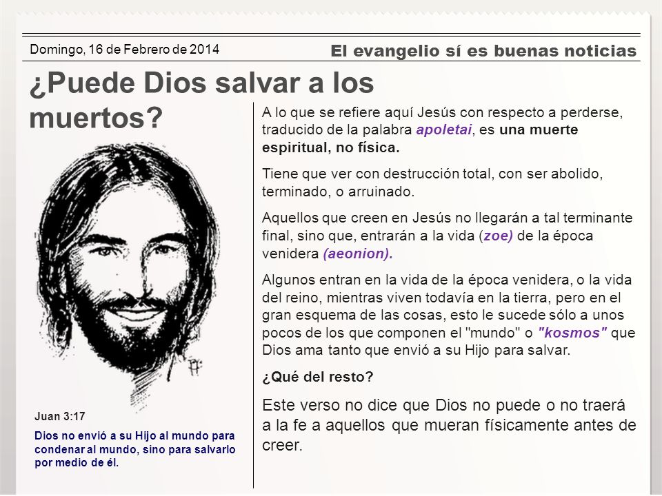 ¿Puede Dios salvar a los muertos