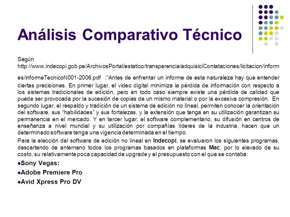 Análisis Comparativo Técnico