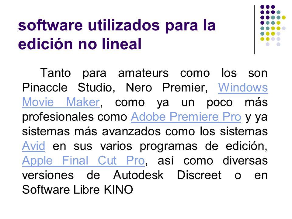 software utilizados para la edición no lineal