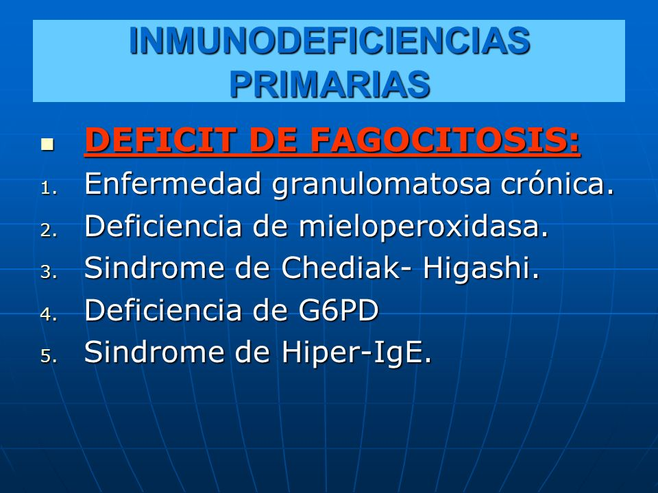 INMUNODEFICIENCIAS PRIMARIAS