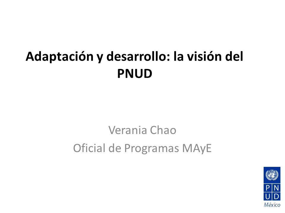 Adaptación y desarrollo: la visión del PNUD