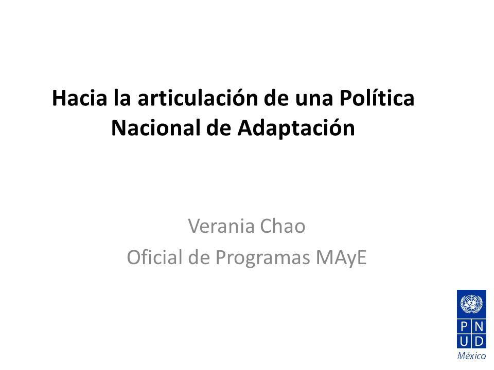 Hacia la articulación de una Política Nacional de Adaptación