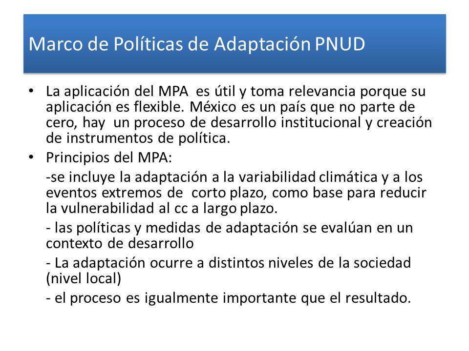 Marco de Políticas de Adaptación PNUD