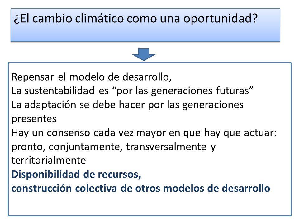 ¿El cambio climático como una oportunidad