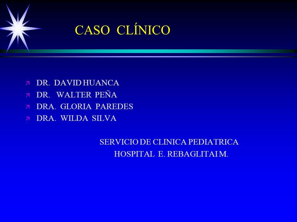 CASO CLÍNICO DR. DAVID HUANCA DR. WALTER PEÑA DRA. GLORIA PAREDES