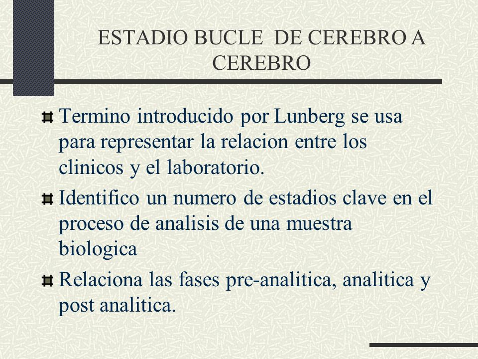 ESTADIO BUCLE DE CEREBRO A CEREBRO