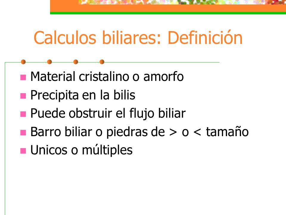 Calculos biliares: Definición