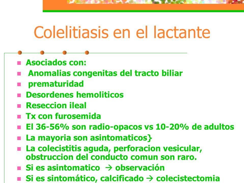 Colelitiasis en el lactante