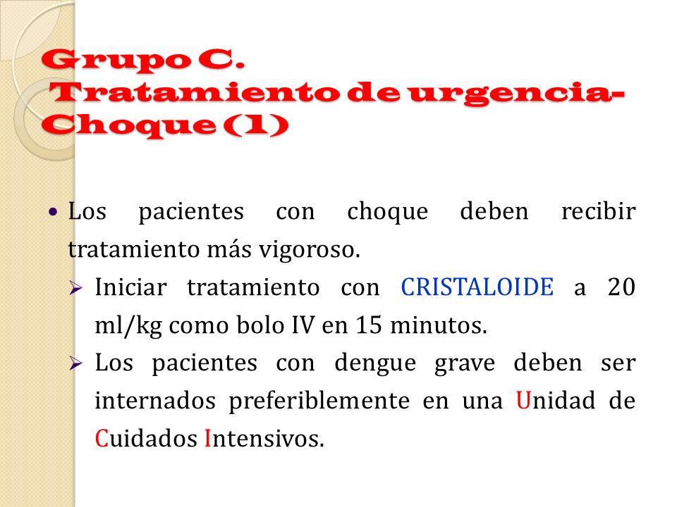 Grupo C. Tratamiento de urgencia- Choque (1)