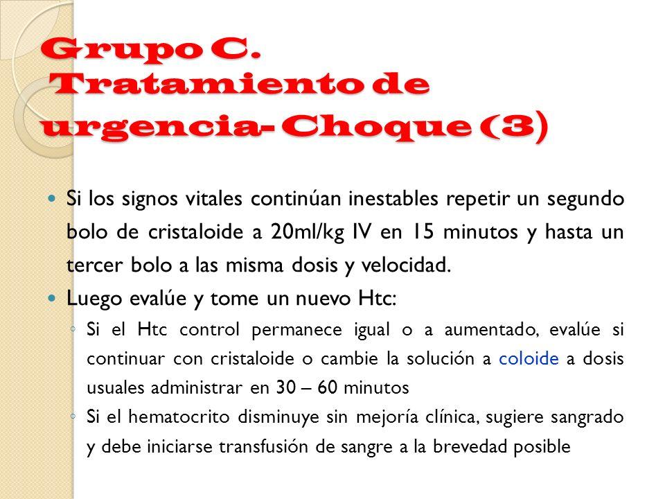 Grupo C. Tratamiento de urgencia- Choque (3)