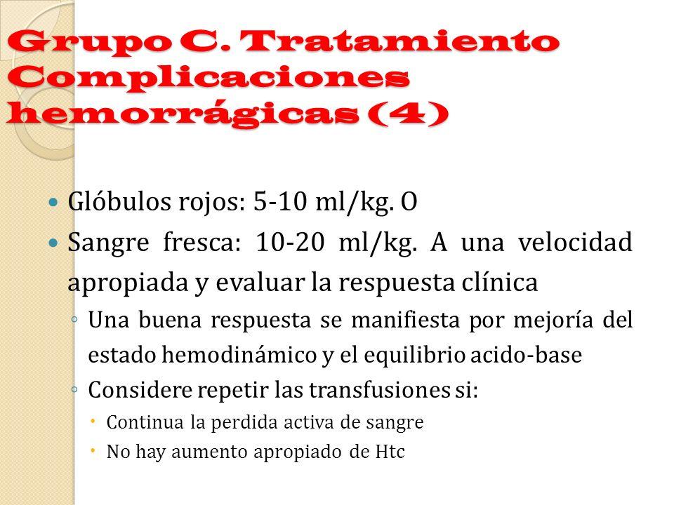 Grupo C. Tratamiento Complicaciones hemorrágicas (4)