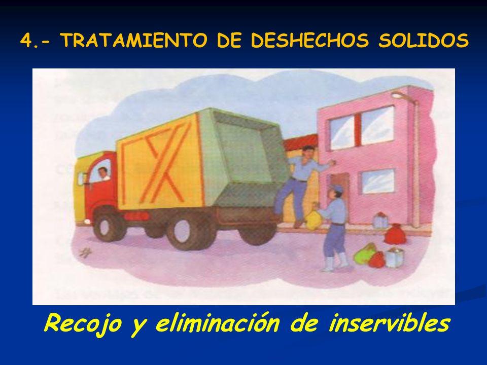Recojo y eliminación de inservibles