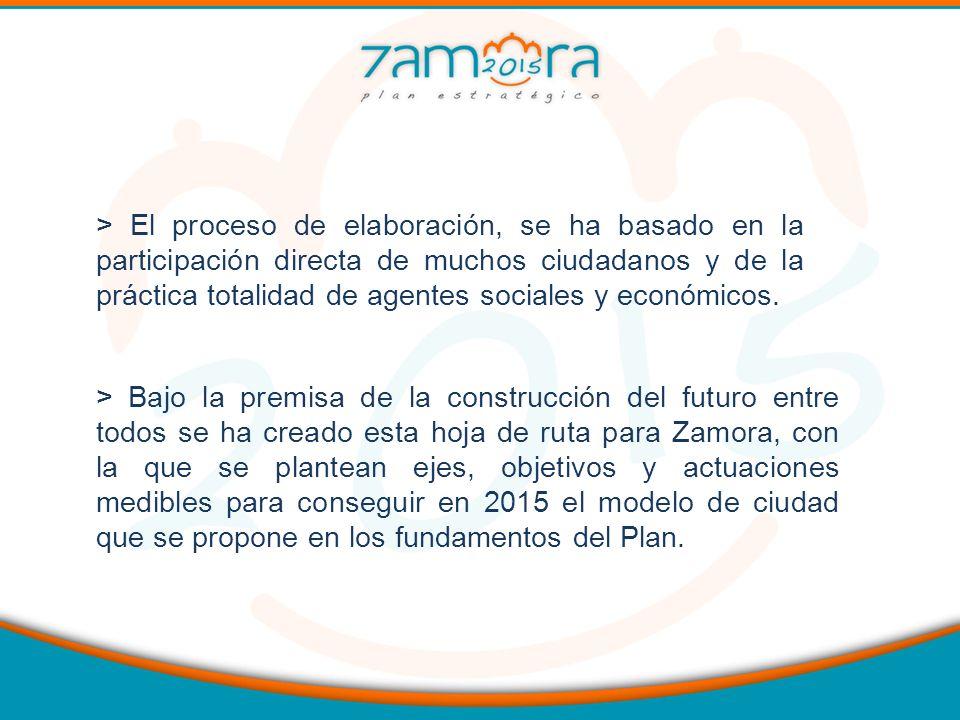 > El proceso de elaboración, se ha basado en la participación directa de muchos ciudadanos y de la práctica totalidad de agentes sociales y económicos.