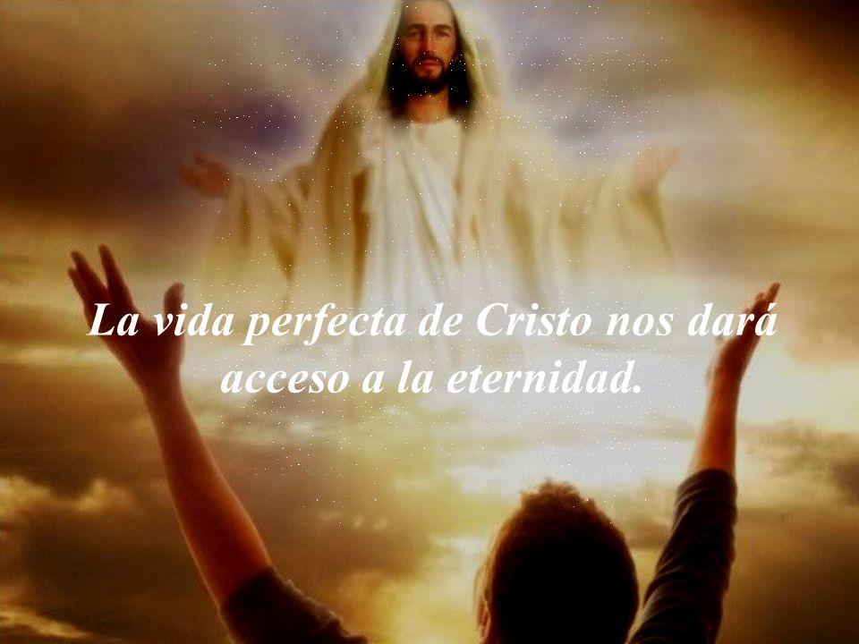 La vida perfecta de Cristo nos dará acceso a la eternidad.