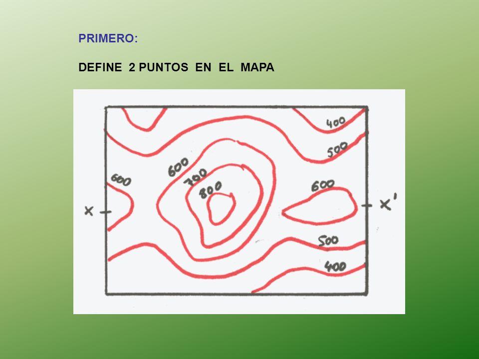 PRIMERO: DEFINE 2 PUNTOS EN EL MAPA