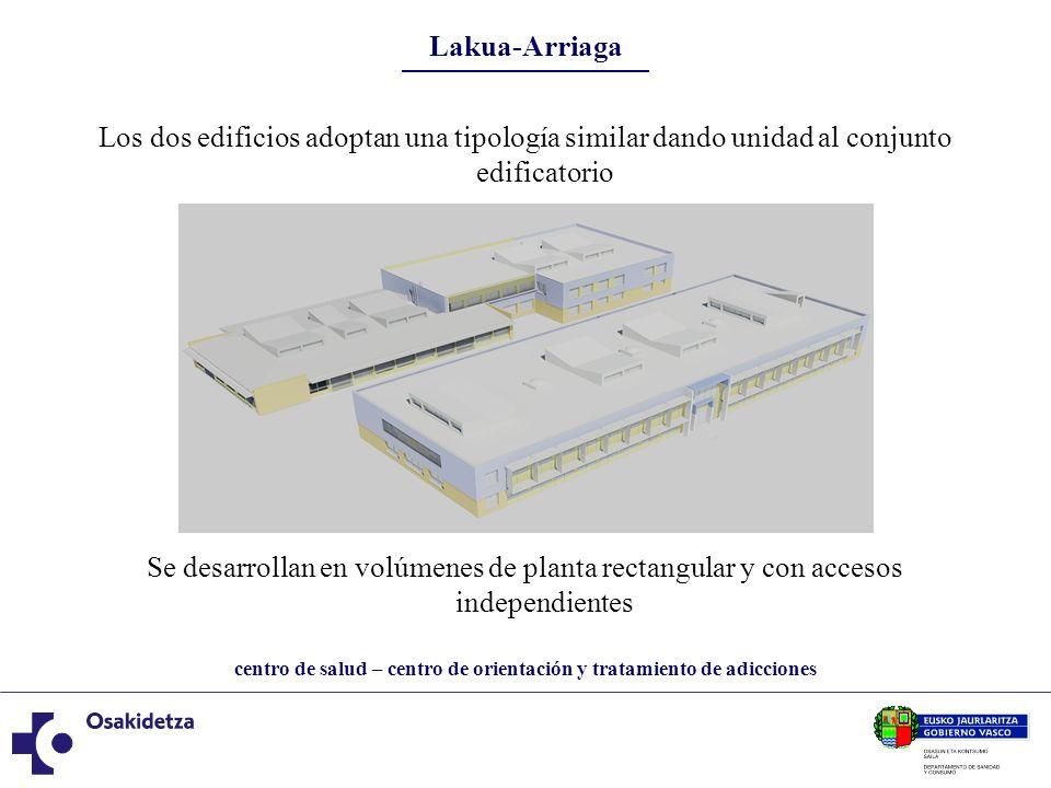 Lakua-Arriaga Los dos edificios adoptan una tipología similar dando unidad al conjunto edificatorio.