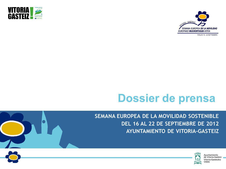 Dossier de prensa SEMANA EUROPEA DE LA MOVILIDAD SOSTENIBLE