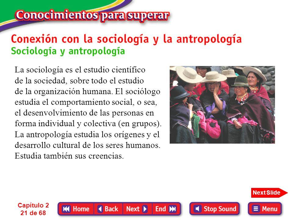 La sociología es el estudio científico