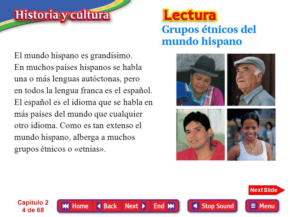 El mundo hispano es grandísimo. En muchos países hispanos se habla
