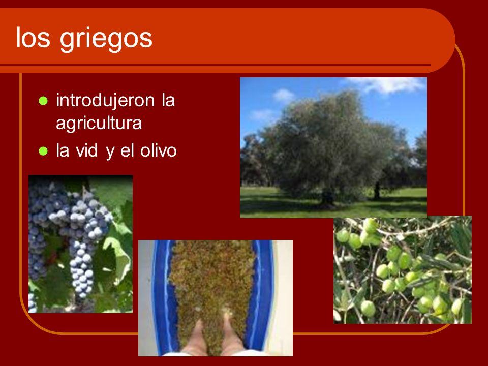 los griegos introdujeron la agricultura la vid y el olivo
