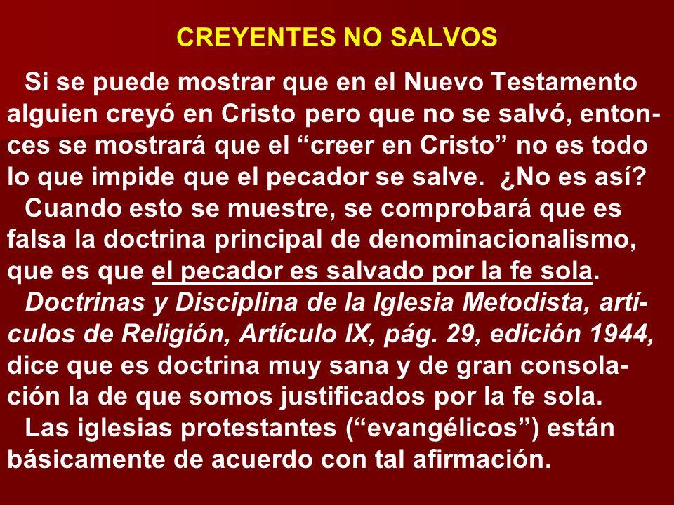 CREYENTES NO SALVOS