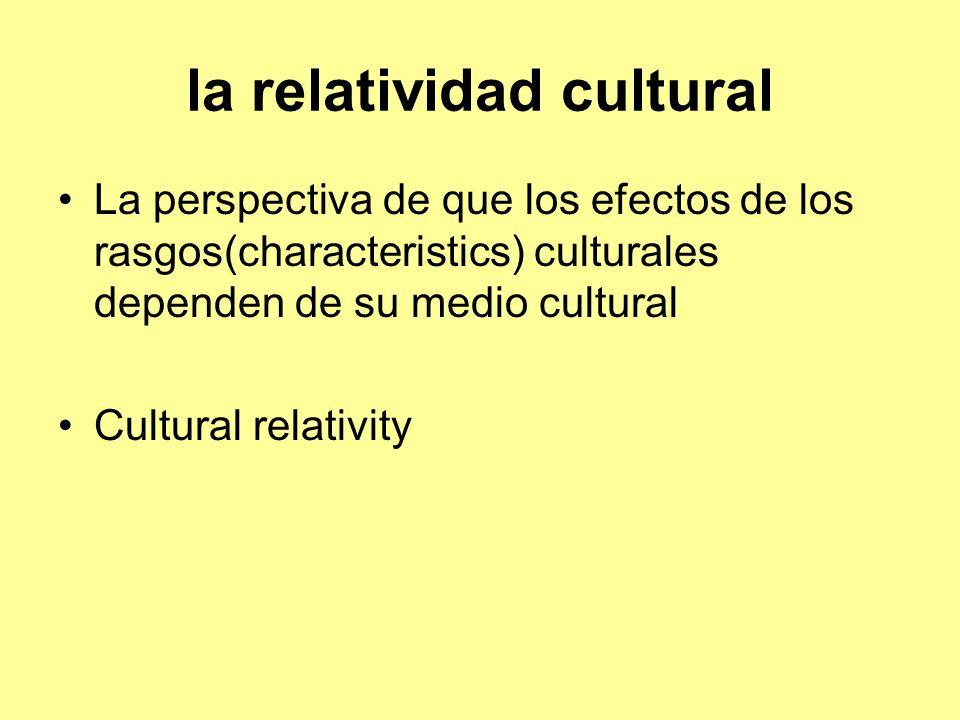 la relatividad cultural