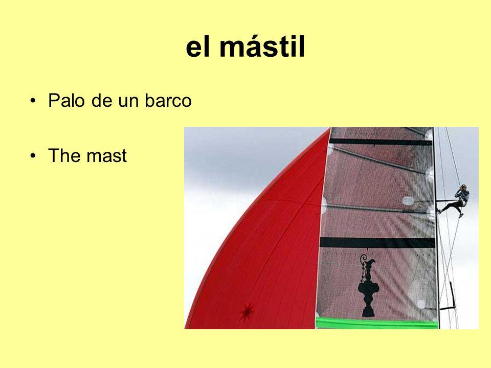 el mástil Palo de un barco The mast