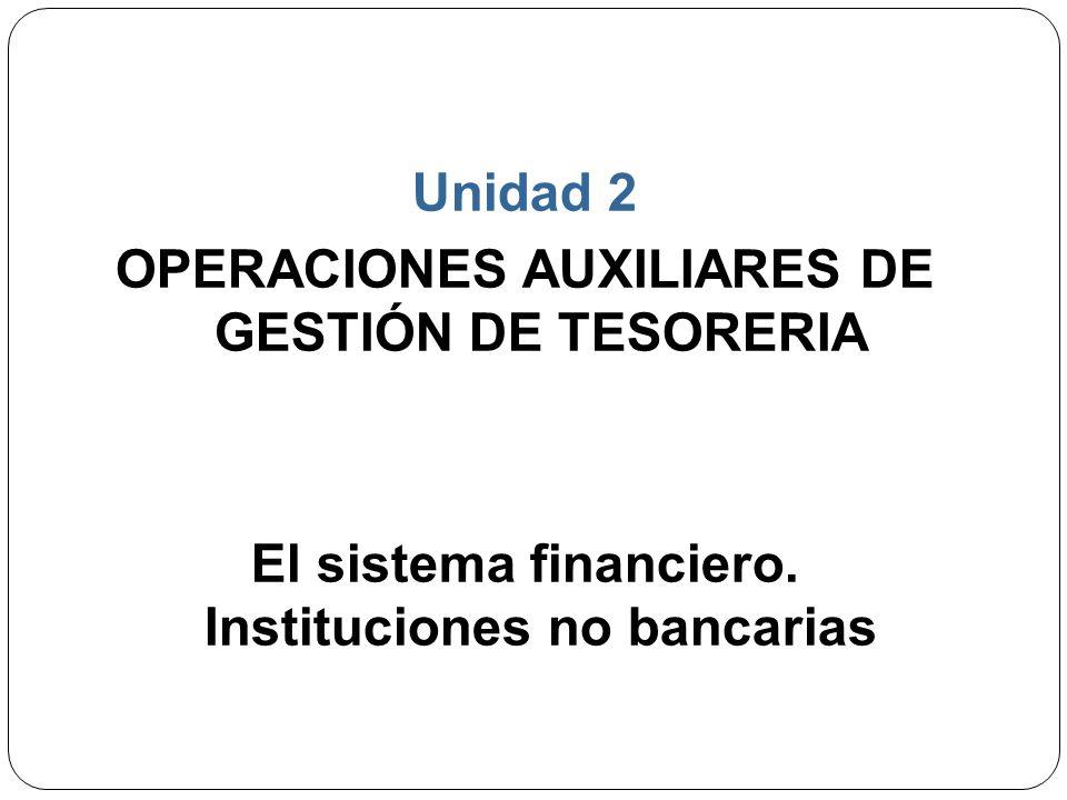 OPERACIONES AUXILIARES DE GESTIÓN DE TESORERIA