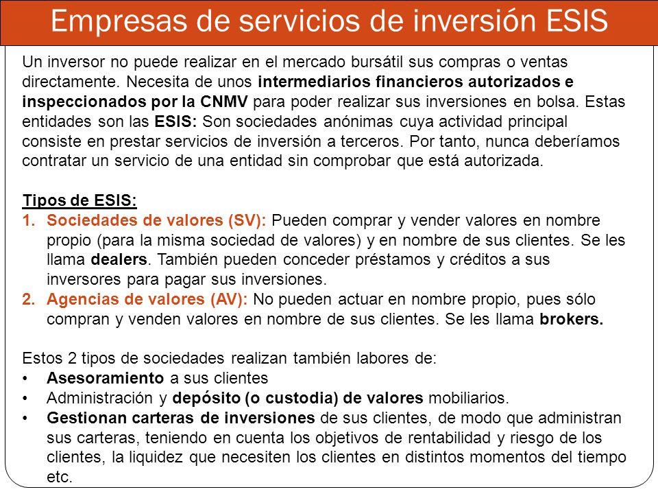 Empresas de servicios de inversión ESIS