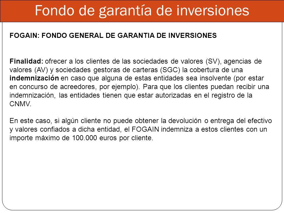 Fondo de garantía de inversiones