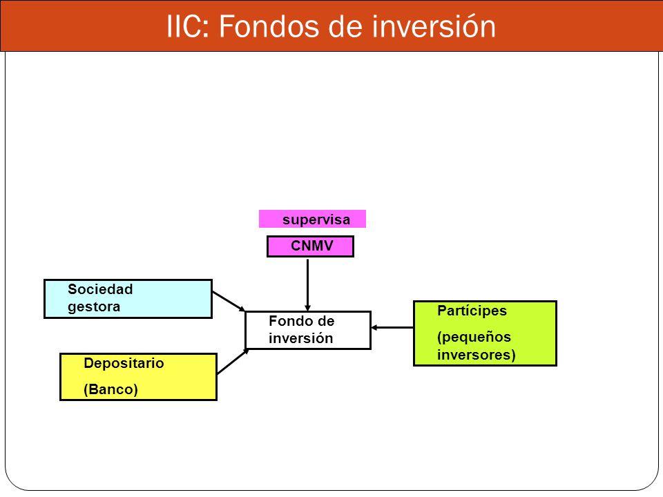 IIC: Fondos de inversión