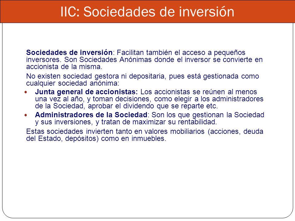 IIC: Sociedades de inversión
