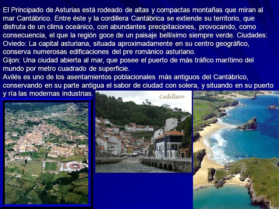El Principado de Asturias está rodeado de altas y compactas montañas que miran al mar Cantábrico.