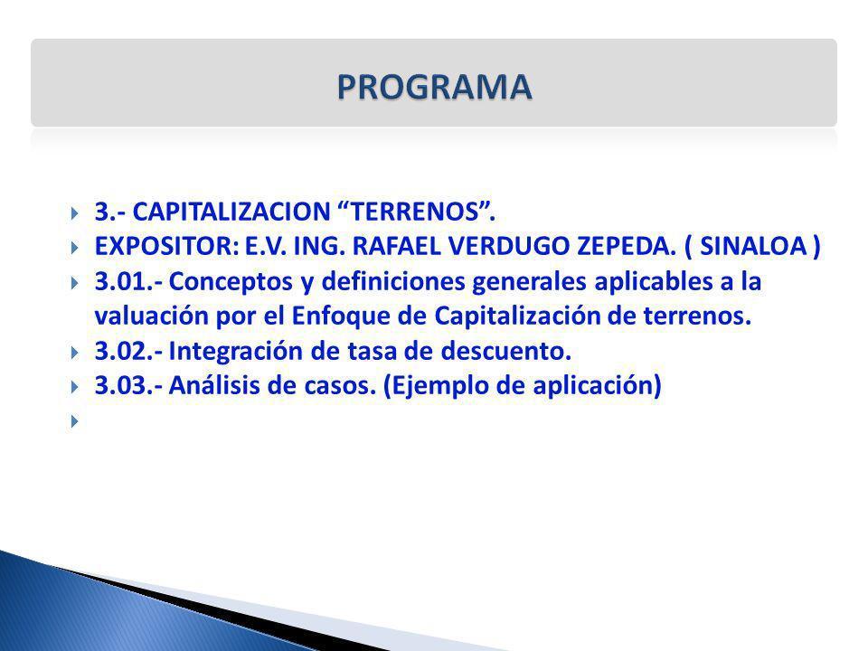 PROGRAMA 3.- CAPITALIZACION TERRENOS .