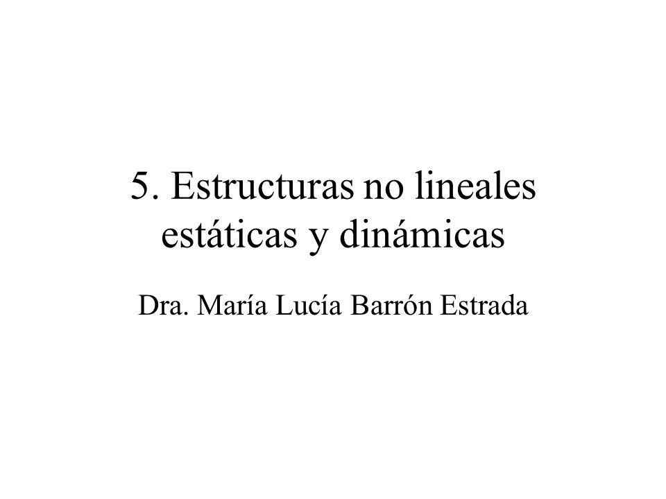 5. Estructuras no lineales estáticas y dinámicas