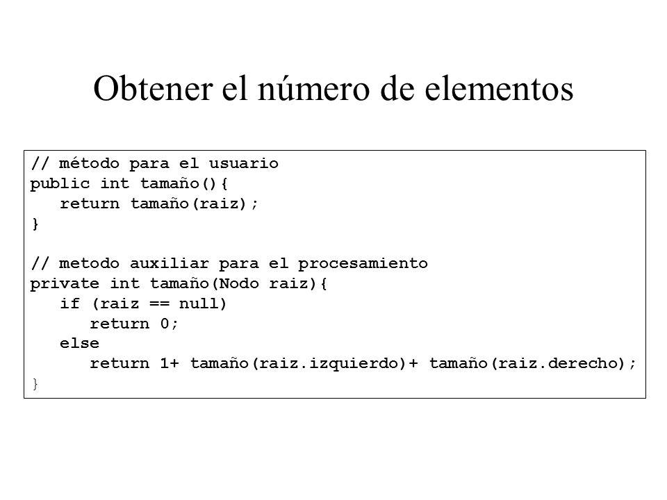 Obtener el número de elementos